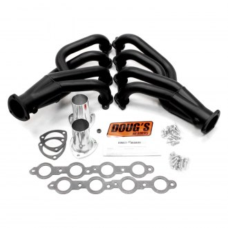 Doug's Headers® - 4-Tube Steel Hi-Temp Black Coated Short Tube Exhaust Headers