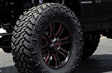 DPR® - COMMANDO Black with Red Accents on Jeep Wrangler