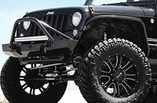 DPR® - COMMANDO Matte Black with Milled Accents on Jeep Wrangler