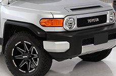 DPR® - STEALTH Matte Black with Milled Accents on Toyota FJ Cruiser