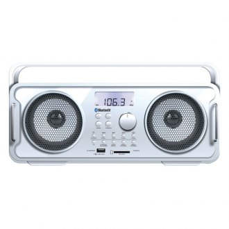 dreamGEAR® - Rechargeable BT4000 Bluetooth Boom Box (White)