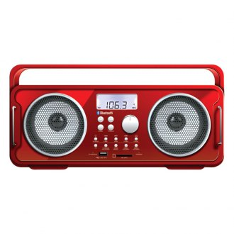 dreamGEAR® - Rechargeable BT4000 Bluetooth Boom Box (Red)