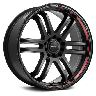 DRIFZ® - 207B FX Black with Red Lip