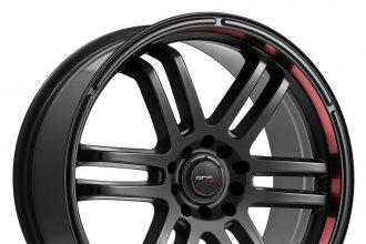 "DRIFZ® - 207B FX Black with Red Lip (17"" x 7.5"", +42 Offset, 5x100 Bolt Pattern, 73mm Hub)"