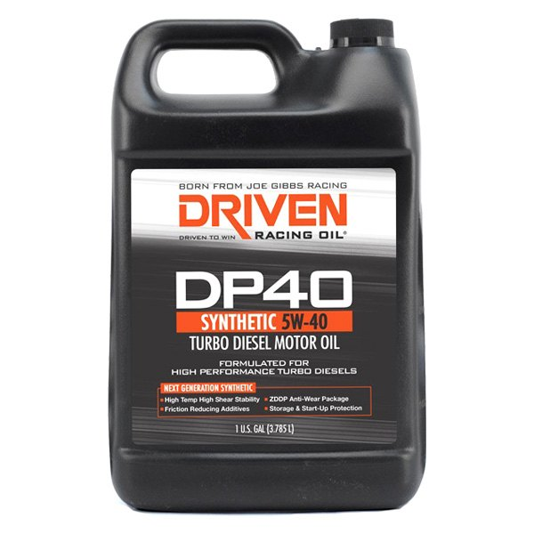 driven racing oil 02508 dp40 sae 5w 40 synthetic turbo diesel motor oil 1 gallon. Black Bedroom Furniture Sets. Home Design Ideas