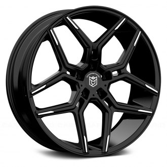 DROPSTARS® - 651MBT Gloss Black with Mirror Machined Spoke Tips