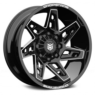 DROPSTARS® - 653BM DEEP CONCAVE Gloss Black with CNC Milled Accents