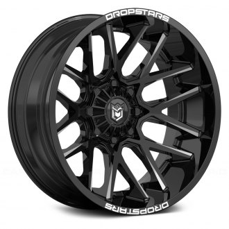 DROPSTARS® - 654BM DEEP CONCAVE Gloss Black with CNC Milled Accents