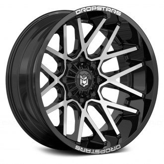 DROPSTARS® - 654MB DEEP CONCAVE Gloss Black with Machined Face
