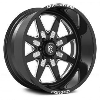 DROPSTARS® - F61BM1 FORGED Gloss Black with CNC Milled Accents