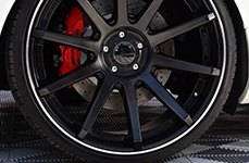 Dropstars 643B Satin Black with Machined Groove on Car