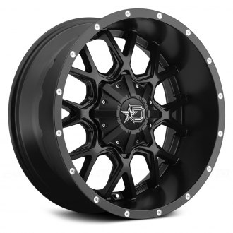 DROPSTARS® - 645B Satin Black with Milled Lip Accents