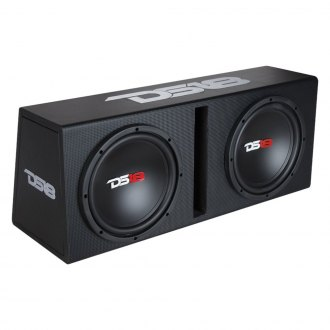 "DS18® - 10"" Dual Vented Powered 1200W Subwoofer Enclosure"