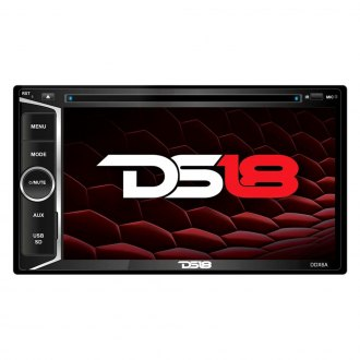 "DS18® - Double DIN DVD/CD/FM/MP3/ Receiver with 6.2"" Touchscreen Display Built-In Bluetooth and GPS Navigation"