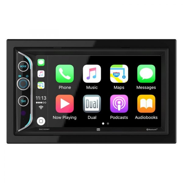 "Dual® - Double DIN AM/FM/MP3/WMA/AAC Digital Media Receiver with 6.2"" Touchscreen Display Built-In Bluetooth"