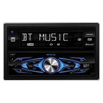 Dual® - Double DIN AM/FM/MP3 Digital Media Receiver with Built-In Bluetooth