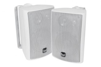 "Dual® LU43PW - 4"" 3-Way Indoor/Outdoor 100W White Speakers"