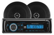 "Dual® - Single DIN AM/FM/CD Receiver with Two 6-1/2"" 2-Way 60W Speakers"