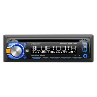 Dual® - Single DIN CD/AM/FM/MP3/WMA/AAC Receiver with Built-In Bluetooth, Pandora Radio Support and Direct USB Control for iPod/iPhone
