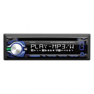 Dual® - Single DIN CD/MP3/WMA/AM/FM/USB Receiver with Bluetooth