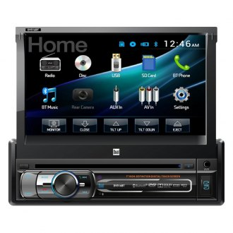 "Dual® - Single DIN DVD/CD/AM/FM/MP3 Receiver with 7"" Touchscreen Display and Built-In Bluetooth"