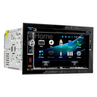 "Dual® - Double DIN DVD/MP3/CD/AM/FM/USB Receiver with 6.2"" Touchscreen Display and Bluetooth"
