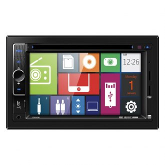 "Dual® - Double DIN DVD Receivers with 6.2"" Touchscreen Display and iPod Control"