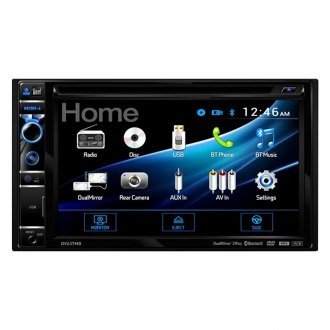 "Dual® - Double DIN DVD/CD/AM/FM/RDS/MP3/MP4 Receiver with 6.2"" Touchscreen Display, Built-In Bluetooth, Steering Wheel Control and 2-Way DualMirror™ Technology"