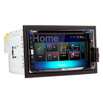 "Dual® - Double DIN DVD/CD/AM/FM/MP3/WMA/AAC/MP4/AVI Receiver with 6.2"" Touchscreen Display Built-In Bluetooth and Dual Mirror Technology"