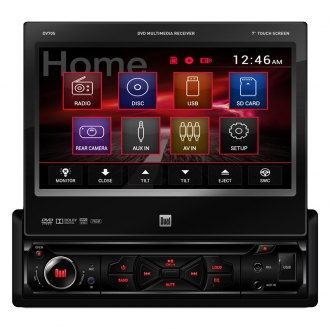 "Dual® - Single DIN DVD/MP3/CD/USB/SD Receiver with 7"" Touch Screen Display"