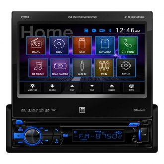 "Dual® - Single DIN DVD/MP3/CD/USB/SD Receiver with 7"" Touch Screen Display and Bluetooth"