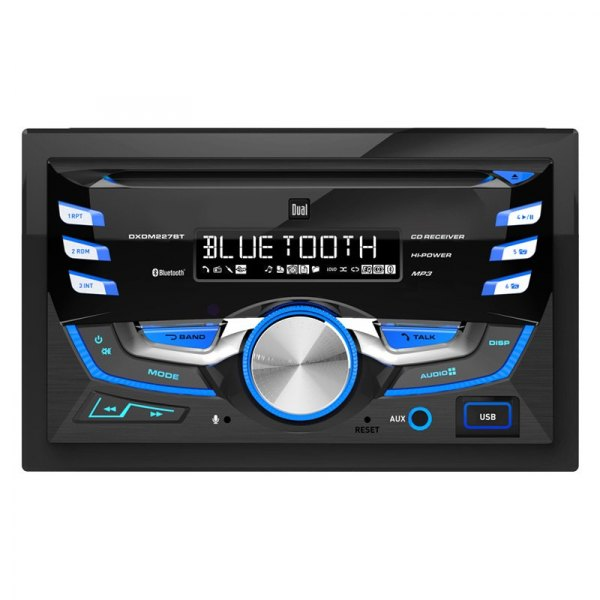Dual® - Double DIN CD/AM/FM/MP3 Receiver with Built-In Bluetooth