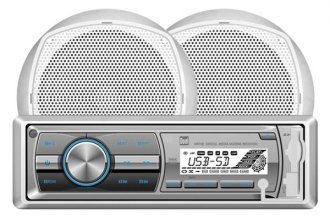 Dual® - Single DIN Marine AM/FM/MP3 Receiver with Two 6-1/2'' 100W Speakers