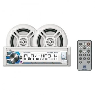 "Dual® - White Marine AM/FM/USB/Bluetooth Stereo Receiver with Two 6-1/2"" Speakers"