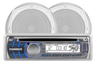 Dual® - Single DIN AM/FM/CD Marine Receiver with Two 6-1/2'' 100W Speakers