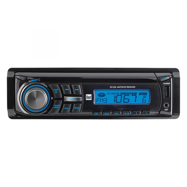 Dual® - Single DIN AM/FM/CD Receiver with Front 3.5mm and Auxiliary Input