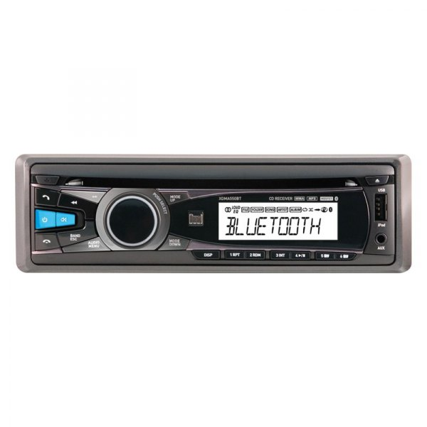 Dual® - Single DIN CD/MP3 iPod/iPhone Compatible Receiver with Auxiliary Input