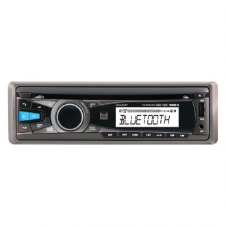 Dual® - Single DIN CD/MP3 iPhone Compatible Receiver with Built-In Bluetooth