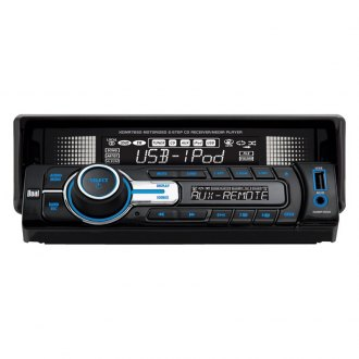 Dual® - Single DIN CD/AM/FM/MP3/WMA Receiver with USB and Full iPod Control