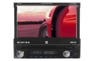 "Dual® - Single DIN DVD/MP3/WMA Receiver with 7"" Motorized Touchscreen Monitor"
