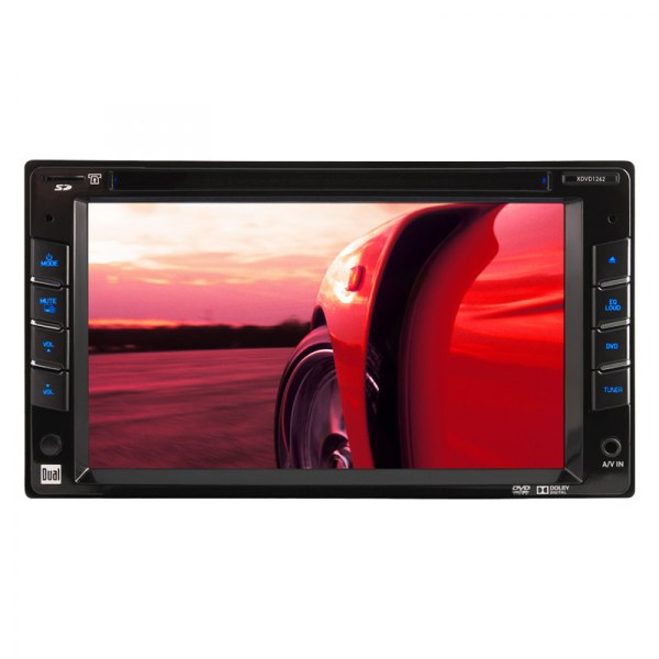 "Dual® - Double DIN AM/FM/CD/DVD/MP3/WMA Receiver with 6-1/2"" LED-Backlit LCD Display and iPod/iPhone Control"