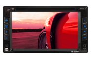 "Dual® - Double DIN AM/FM/CD/DVD/MP3/WMA Receiver with 6-1/2"" LED-Backlit LCD Display"