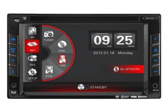 "Dual® - Double DIN AM/FM/CD/DVD/MP3/WMA Receiver with 6.2"" LCD Monitor and Built-In Bluetooth"
