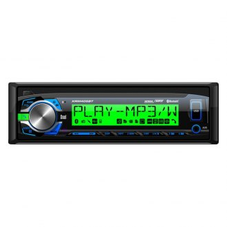 Dual® - Single DIN AM/FM/MP3/WMA Mechless Receiver with Built-In Bluetooth