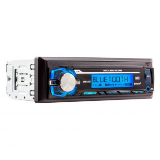 Dual® - Single DIN AM/FM/MP3/WMA Mechless Digital Receiver with Built-In Bluetooth