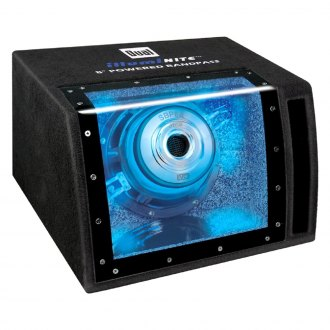 "Dual® - 8"" IllumiNITE Series Single Bandpass Powered 160W Subwoofer Enclosure"