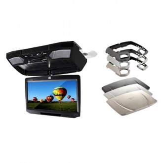 "Dual® - 10.1"" Flip Down LCD Monitor with Built-In DVD Player and 3 Housing Options"