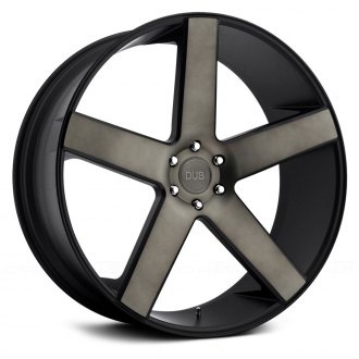 DUB® - S116 BALLER Black with Machined Face and Dark Tint