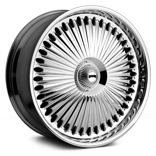 Dark Chrome Rims on Chrome With Black Base Spinner Wheels By Dub Spini    The Soft Action