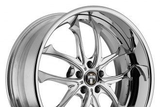"DUB® - C-18 TRITON Chrome 2-Pc Standard (19"" x 8.5"", -80 to +80 Offsets, 5x100-150 Bolt Patterns, 50-130mm Hubs)"